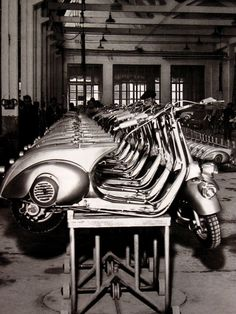 1946 - The birth of the Vespa motor scooter!  Developed by Piaggio & Co. S.p.A. of Pontedera, Italy. S)