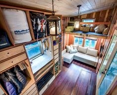The Basecamp Tiny Home is a small house on wheels that´s jam-packed with storage space, pet-friendly features, and sustainable technology to allow it to operate off-grid. The little retreat has all of the comforts of living in a larger space condense