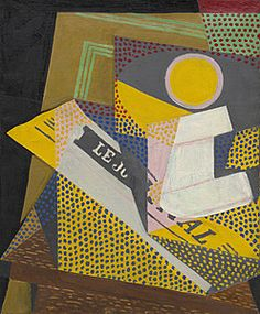 Juan Gris, Newspaper and Fruit Dish (Journal et compotier), March 1916. Collection Online | Browse By Movement | Cubism - Guggenheim Museum