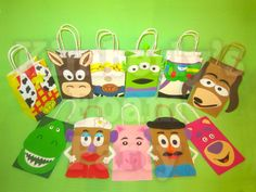 11 Toy Story party bags by kimberlysfoamparty on Etsy