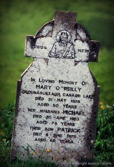 Family gravestone ... Co. Kerry, Ireland. Photo by Monica Roberts