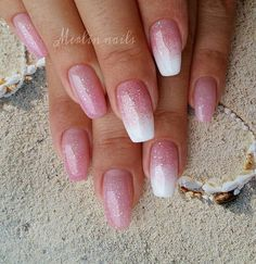 Simple . #crystalnails #gel #gelnails #nail #nails #nailstagram #nailsofinstagram  #notpolish #manicure #artnails #fashionnails #nailart #nailswag #instanails #nailporn #glitter #white #ombre #fashion #nokti #nokta #pinknails #pink #coffinnails #simplenails