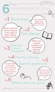 6 Marketing Tips For 2014 #infographic