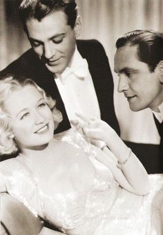 Miriam Hopkins, Gary Cooper and Fredrich March, Design for Living.
