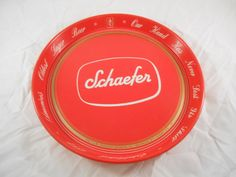 Vintage Schaefer Beer Red Beer Tray great vintage condition.  FREE SHIPPING to our U.S customers