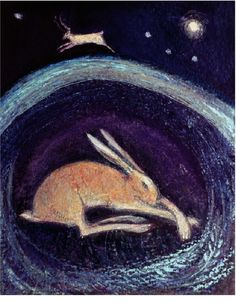 Catherine Hyde Artist - the winter solstice - hares