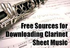 Free Clarinet Sheet Music Download Sites