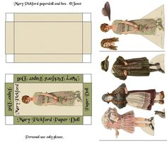 Mary Pickford paper doll and box