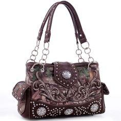 Realtree® Floral Embroidered Western Studded Shoulder Bag Only Sold 42.99 - fashlets.com