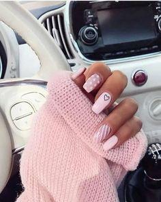 Winter nail designs Valentine's Day nail art: pink heart leopard nails, nails acrylic, nails fall, n Plaid Nail Designs, Heart Nail Designs, Valentine's Day Nail Designs, Winter Nail Designs, Acrylic Nail Designs, Nails Design, Blog Designs, Nail Designs With Hearts, Fall Designs