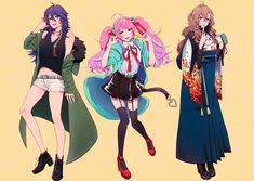 Division All Stars ヒプノシスマイク(Matenrou Hypnosis Mic) HypMic (ヒプマイ) Cute Anime Pics, I Love Anime, Super Hero Life, Ghost Cat, Pretty Drawings, Art Costume, Rap Battle, Anime People, Pokemon