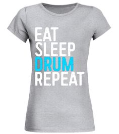 f256f79b620 Eat Sleep Drum Repeat T-Shirt Funny Drummer Gift Shirt baby shirt  music