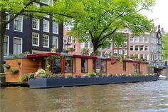 #travel #amsterdam #netherlands #holland #wanderlust #architecture #houseboat
