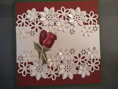 Like the addition of the single flower stem connecting the two die cut piecesLinda Heithold's media content and analytics Birthday Cards For Women, Handmade Birthday Cards, Greeting Cards Handmade, Pretty Cards, Cute Cards, Crafters Companion Cards, Spellbinders Cards, Embossed Cards, Paper Cards