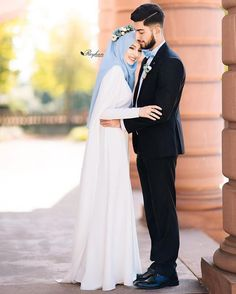 156 best couple wedding dreses – page 1 Hijabi Wedding, Muslimah Wedding Dress, Muslim Wedding Dresses, Hijab Bride, Muslim Brides, Wedding Couple Poses Photography, Wedding Poses, Wedding Couples, Wedding Ideas