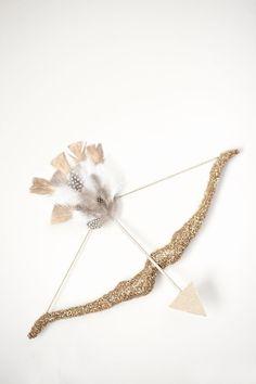 glittered cupid's arrow