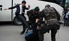 Turkey mine disaster: aide to PM pictured kicking protester