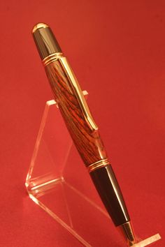 24ct Gold Plated Silver Carbon Fiber Fountain Writing Pen Gift Box Free Ink 24k