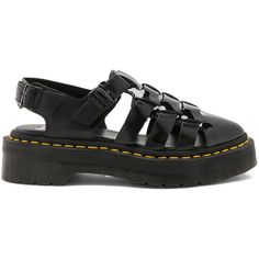 Dr. Martens Oriana Pointed Fisherman Sandal (4.370 RUB) ❤ liked on Polyvore featuring shoes, sandals, dr. martens, real leather shoes, rubber sole shoes, fisherman sandals and rubber sole sandals
