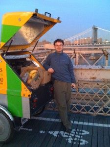 Revolution Rickshaws owner Gregg Zumann on his idea of opening up a new bike lane on the Brooklyn Bridge. Given the popularity of the Brooklyn Bridge Promenade for pedestrians, and the growing need to encourage cycling in the city, we think it is a great idea. We'll miss the view too, but what a statement for sustainable transportation!