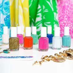 Colors go from bright to brighter with this season's chic essie shades and Lilly Pulitzer patterns exclusively at Target. #LillyforTarget