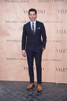 James Marsden in a Valentino total look during the Mirabilia Romae Haute Couture Show, on July 9th 2015.