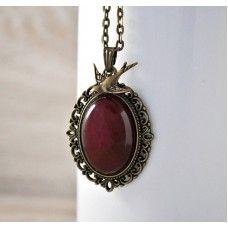 AURORA Vintage Tarzı Ceyt Kolye http://ladymirage.com.tr/kolyeler.html/aurora-vintage-tarzi-ceyt-kolye-89369723.html?limit=100 #ceyt #taşı #doğaltaş #vintage #tasarım #elyapımı #bronz #kolye