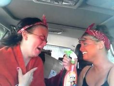 """They are hilarious! Hannah  Kaylee aka Thelma  Louise """"self tanner"""""""