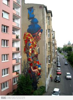 Graffiti in Poland by the artist Sainer