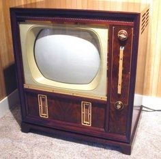 I remember watching the Kennedy-Nixon debates on just such a tv set.