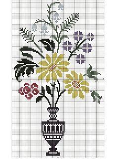 ru / Photo # 85 - Flowers and other vegetative . Filet Crochet Charts, Cross Stitch Charts, Crochet Motif, Cross Stitching, Cross Stitch Embroidery, Hand Embroidery, Modern Cross Stitch Patterns, Cross Stitch Designs, Blackwork Patterns