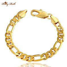 African Men Jewelry Bracelet  Wholesale New Trendy Gold Color   Thick Cuban Chain Rock Bracelets bracelets & bangles