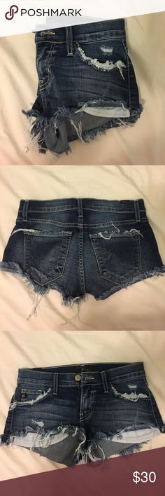 Cute short shorts!! Worn twice, great qual Kan can Shorts Jean Shorts