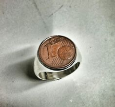 One cent silver ring