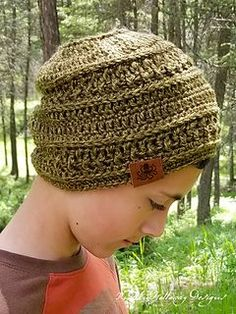 """The wanderlust beanie is designed for those wild at heart individuals who feel called to explore, to travel, and to blaze new trails. I designed this hat with Lion Brand """"Heartland"""" yarn making it soft and cozy, yet lightweight enough for summer evenings. Not only would this beanie serve you well on a camping or hiking trip, it would also make an excellent piece to donate to charitable organizations that provide hats for cancer patients."""