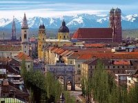 Bavaria..Munich on a clear day you can see the Alps.