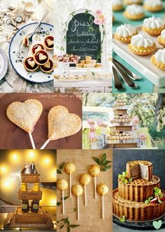 #Pie #Wedding #Cakes Mood Board from The Wedding Community  #nationalpieweek