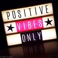 Positive vibes with the Heidi Swapp Lightbox Cinema Light Box Quotes, Light Quotes, Cinema Box, Light Letters, Diy Letters, Citations Lightbox, Mini Lightbox, Kitchen Letters, Licht Box