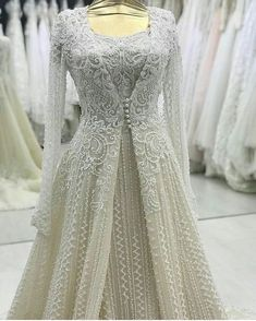 144 Likes, 6 Comments - реклама для салонов ( - wedding-dress. Silver Wedding Gowns, Indian Wedding Outfits, Bridal Outfits, Indian Outfits, Wedding Dresses, Wedding Abaya, Lehenga Wedding, Eid Outfits, Indian Clothes
