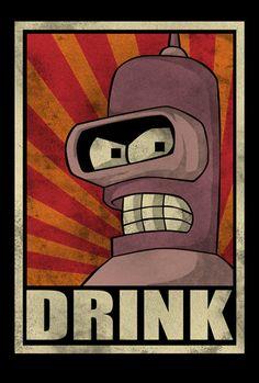 #Futurama: Bender t-shirt.                                                                                                                                                                                 More