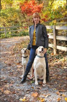 Nora Roberts with her dogs