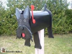 #Scottie mailbox. Image receiving some Scottie Dog shaped shortbread cookies in your Scottie dog mailbox!?