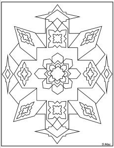 Geometric Coloring Pages Have Been Created On A Computer Using The Basic Shapes And Lines