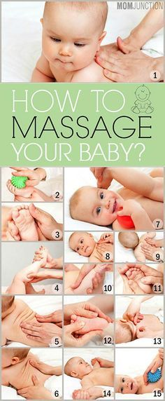 Baby Massage: A Step-By-Step Guide To Do It Safely. Baby massage is important to stimulate a bonding between mother & the baby. Here's how to give a baby massage & how it can nurture your little one's growth. Baby Massage, Massage Bebe, Massage Tips, Massage Techniques, Massage Therapy, Massage Art, The Babys, How To Massage Yourself, Get Baby