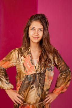 Martina P. 13 anni, casacca Fun, leggings Desigual