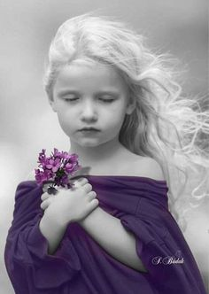 Prayers for a bless evening! Color Splash, Color Pop, Splash Photography, Color Photography, Black And White Colour, Black And White Pictures, Beautiful Children, Beautiful Babies, Cute Kids