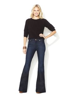 High-Waisted Flare Jean by 7 for All Mankind at Gilt