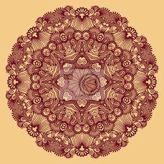 Fototapeta koło, ozdobne koronki okrągły - indyjski • PIXERS.pl