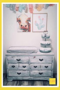 Cow Nursery, Baby Girl Nursery Themes, Nursery Twins, Rustic Nursery, Baby Boy Rooms, Nursery Ideas, Elephant Nursery, Farm Themed Nursery, Baby Room Design