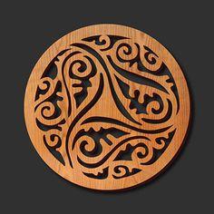Arabic Wood Trivet
